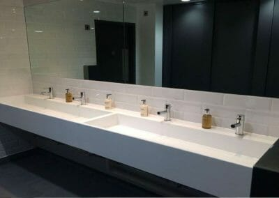 GB ELECTRICAL AND BUILDING SERVICES PUBLIC BATHROOM SINKS