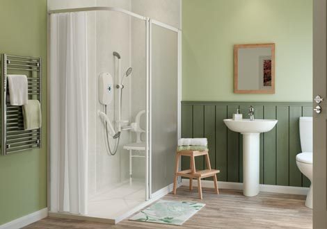 GB Home Adaptations Contemporary Wet Room