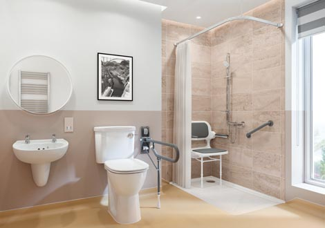 GB Home Adaptations Stylish Wet Room