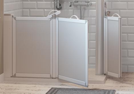 Bi Folding Shower Screen Wetroom Detail
