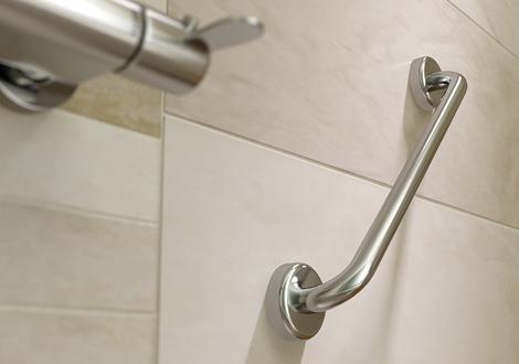 Chrome Grab Hand rail detail