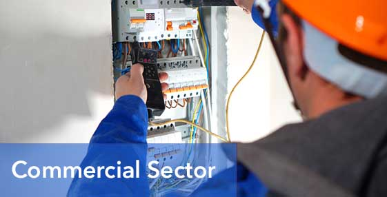 Commercial Sector Homepage Graphic with Title
