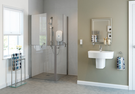 Wetroom Shower with Glass Shower Screens